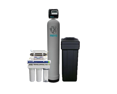 Hero Hybrid Whole Home Water Treatment Package