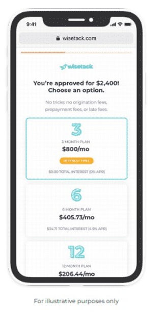 https://www.wisetack.com/,Consumer-friendly financing,