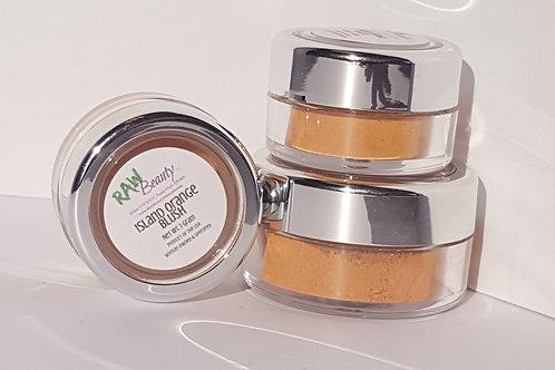 Island Orange Natural Blush Pigment | Raw Beauty Minerals