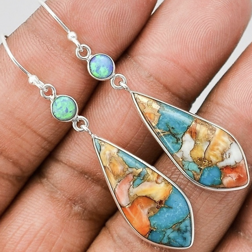 Silver Turquoise Fashion Earrings