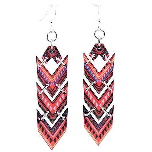 African Chevron Earrings #1533