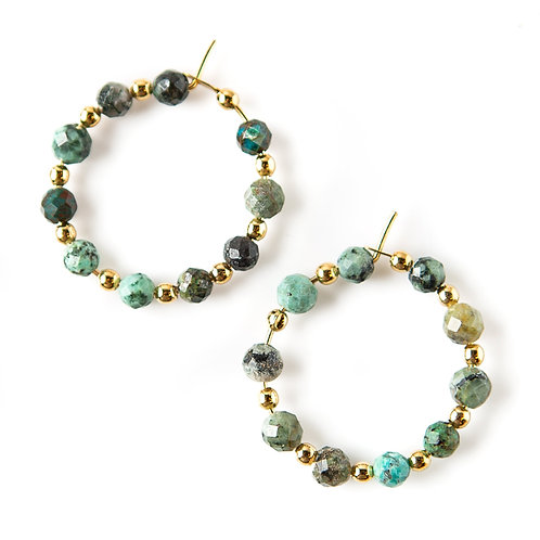 Piper Earrings-African Turquoise