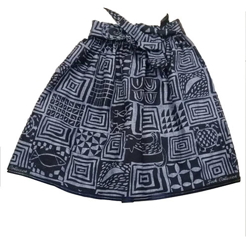 African Dutch Ankara Print Full Circle Skirt for Women