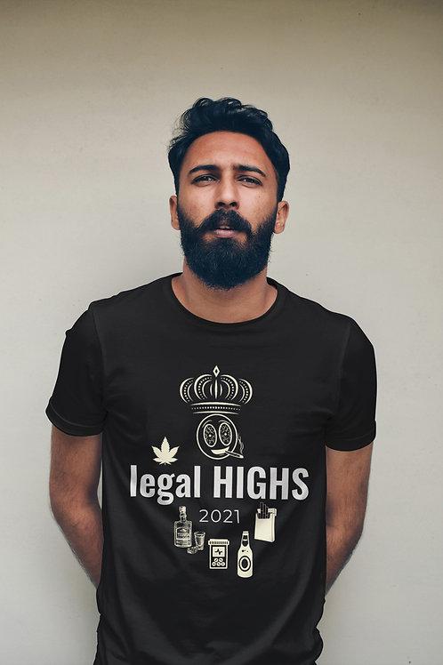 Legal Highs Men's Custom Crew Neck Tee