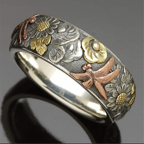Vintage Silver Dragonfly Ring
