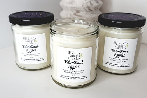 Farmstand Apples   Natural Soy Candle   Hand-Poured and Hand-Crafted