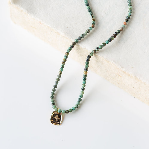 Piper Necklace-African Turquoise