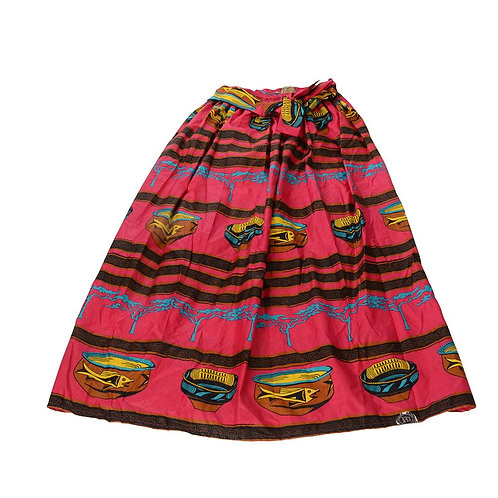 African Dutch Ankara Print Full Circle Skirt for Women