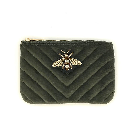 Sixton - Velour Purse with Bee Brooch
