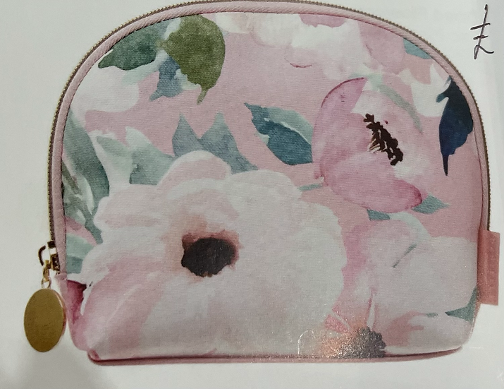 Large Oval Pink Floral Beauty Purse