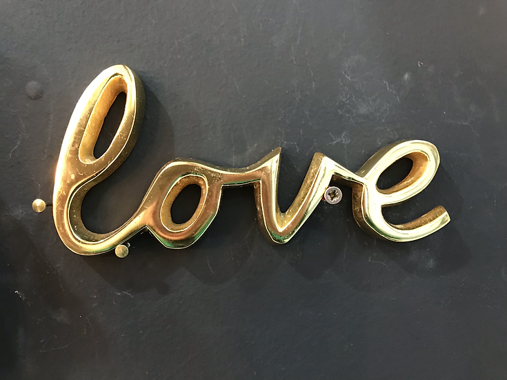 Love Brass Wall Plaque