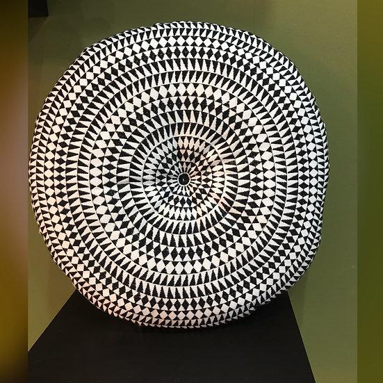 Medina Embroidered Round Cushion