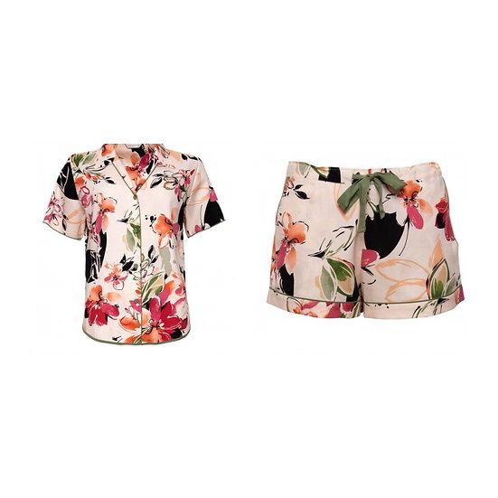 Cyberjammies - Floral Print Pyjama Shorts Set