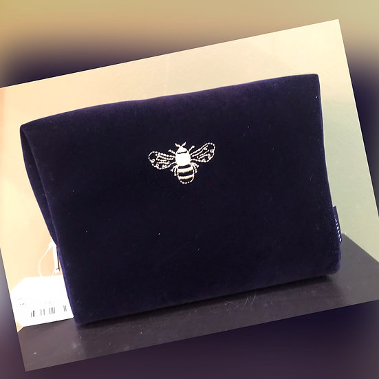 Large Bee Embossed Cosmetic Bag