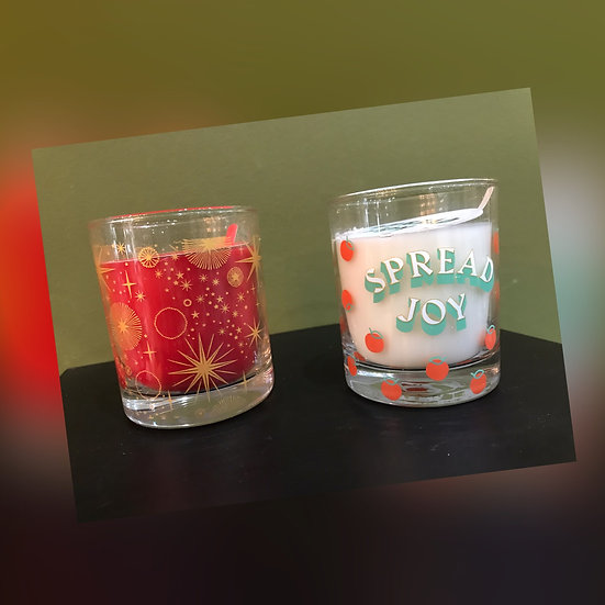 Paddywax Christmas Glass Candles