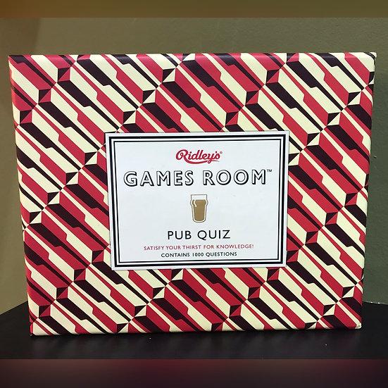 Games Room Pub Quiz set