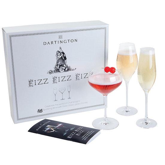 Dartington Fizz glass trio