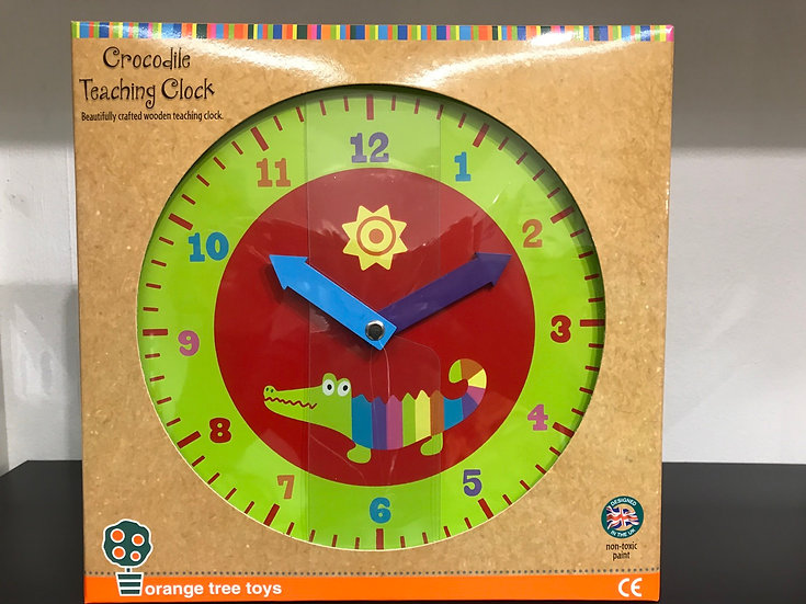 Crocodile Teaching Clock