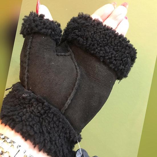Ladies Leather Fingerless Gloves