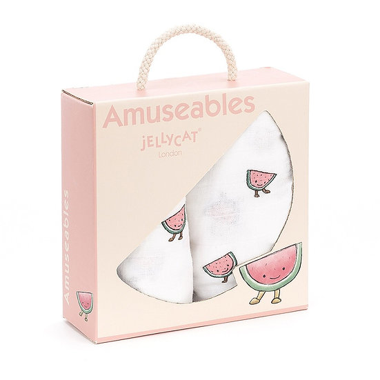 Jellycat - Amuseable Watermelon Pair of Muslins