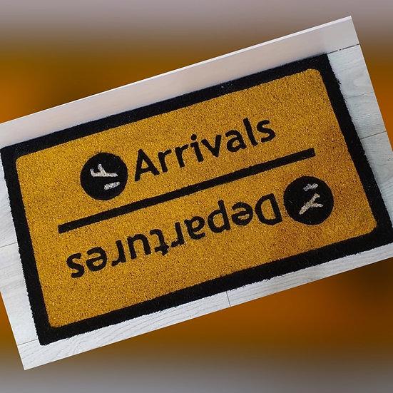 Arrivals / Departures Doormat