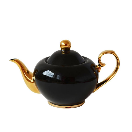 Black & Gold China Teapot