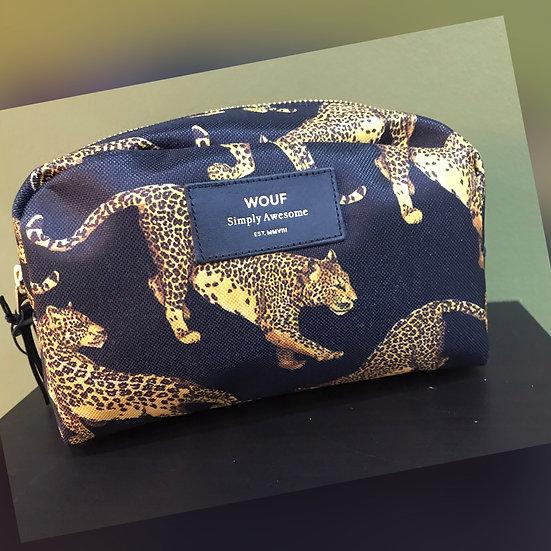 'WOUF' Black Leopard Beauty Bag