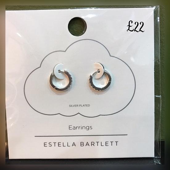Estella Bartlett Diamanté Hoop Earrings
