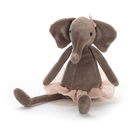 Jellycat - Small Dancing Darcey Elephant.