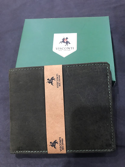 Oil Green Leather Wallet (707)