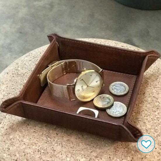 Medium Leather Coin Tray
