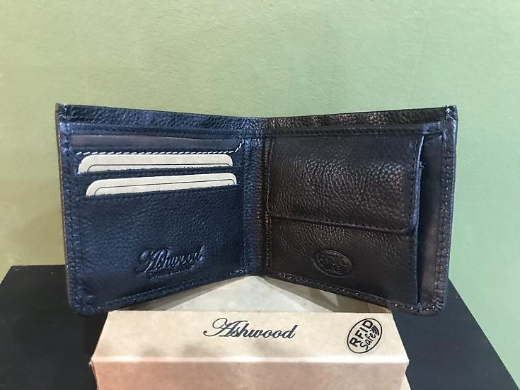 1552 Black Leather Wallet