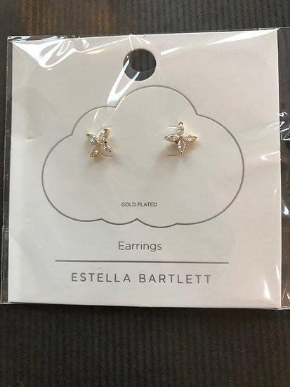 Estella Bartlett Clear Stone Flower Earrings
