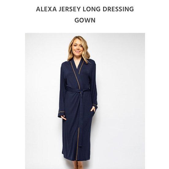 Cyberjammies - Alexa Navy Long Robe