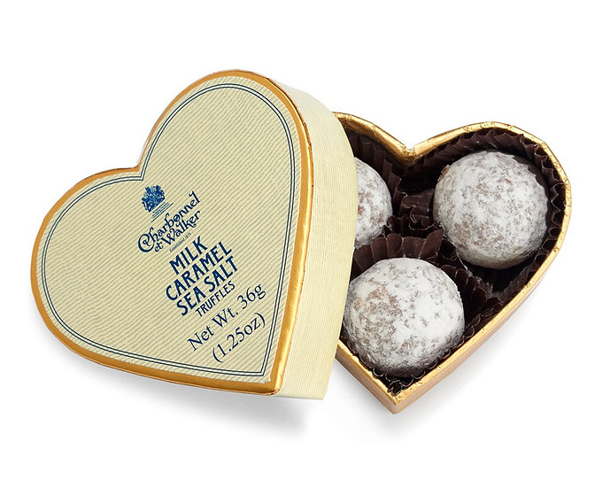 Charbonnel et Walker - Milk Sea Salt Caramel Chocolate Truffles – Cream Mini Hea