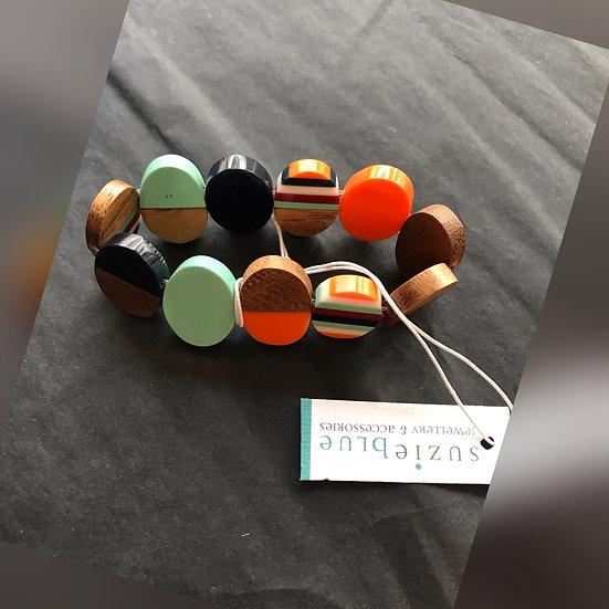 Multi Coloured Disk Bracelet