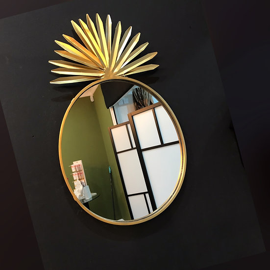 Gold Pineapple shaped mirror