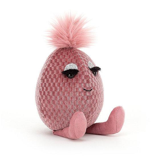 Jellycat - Pink Topaz Fabbyegg.