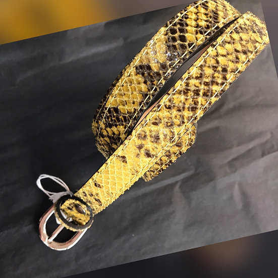 Ladies Narrow Snakeprint Belt