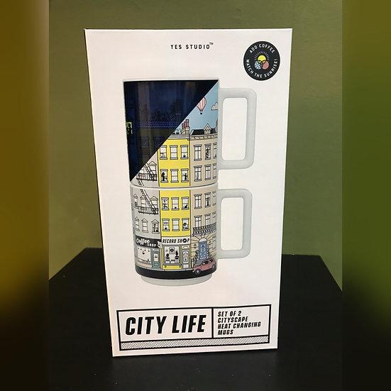 Cityscape Heat Changing Mugs