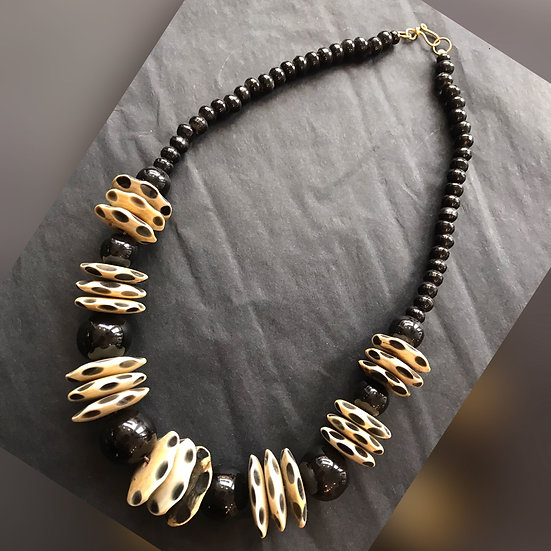 Short Bead / Disk Necklace