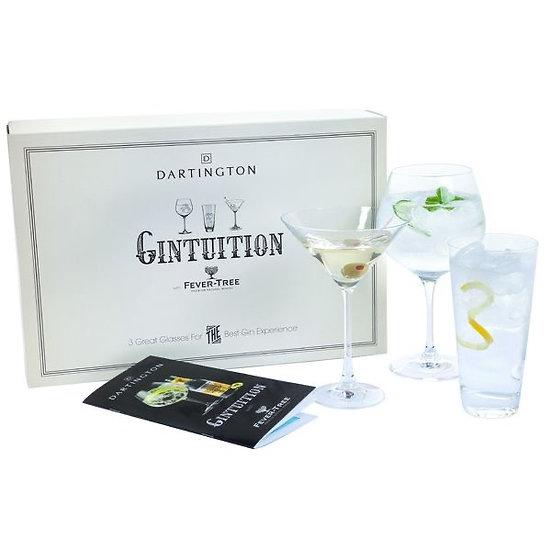 Dartington Gintuition Gin glass Trio