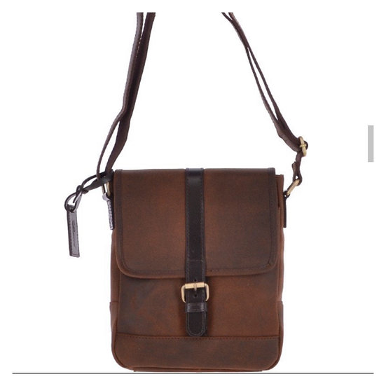 'Toby' Leather Man Bag