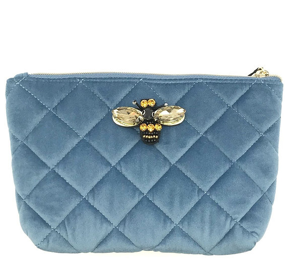 Sixton - Quilted Velour Makeup Bag