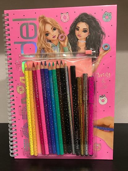 Top Model-Sticker & Colouring Book