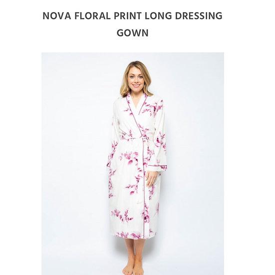 Cyberjammies - Nova Burgundy Floral Print Robe