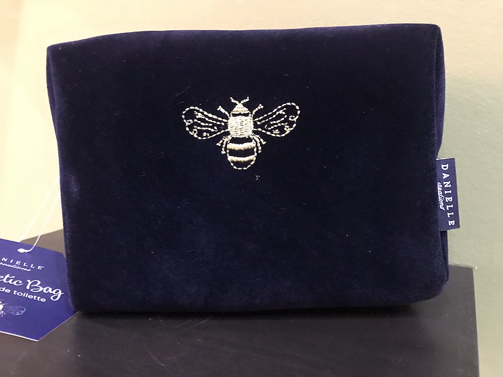 Medium Bee Embossed Cosmetics Bag