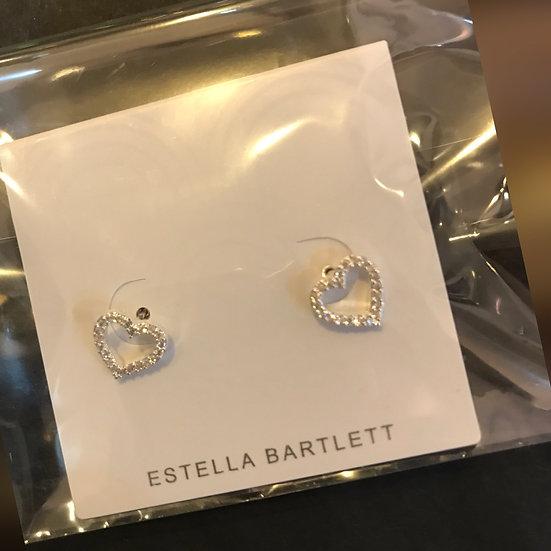 Estella Bartlett Diamanté Heart Earrings