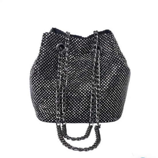 PP119: Heavy Studded Evening Bag with Chain