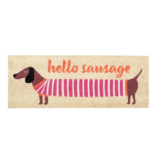 Hello Sausage Long Doormat